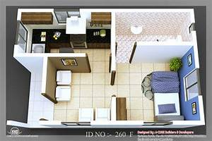 3D isometric views of small house plans | home appliance