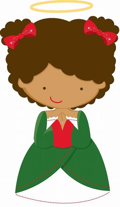 Clipart Elf Natal Anjos African Personagens American