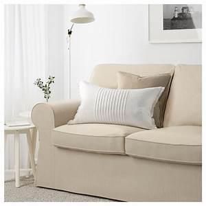 Ektorp three seat sofa nordvalla dark beige ikea for Dark beige sectional sofa
