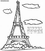 Paris Coloring Tower Eiffel France Printable Cn Drawing Getcolorings Colorings Fancy Getdrawings Eiff sketch template