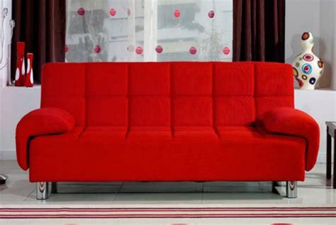 Divano Letto 3 Posti Reclinabile Salotto Ecopelle Rosso