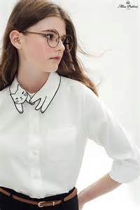 cat collar shirt cat shirt white miss patina vintage inspired