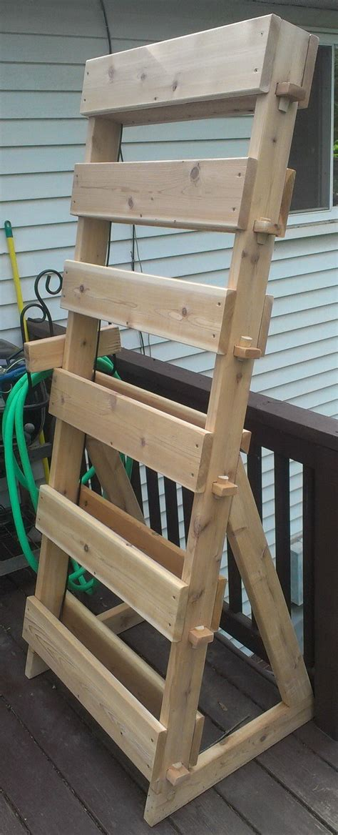 garden tower diy how to make a vertical 6 tray garden herb tower with cedar