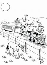 Coloring Trains Steam Railroad Train Pages Freight Engine Drawing Horse Eating Beside Printable Colorluna Getcolorings Drawings Enregistree Depuis 09kb 300px sketch template
