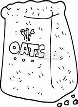 Oats Cartoon Freehand Drawn Aveia Desenho Bolsa Alamy sketch template