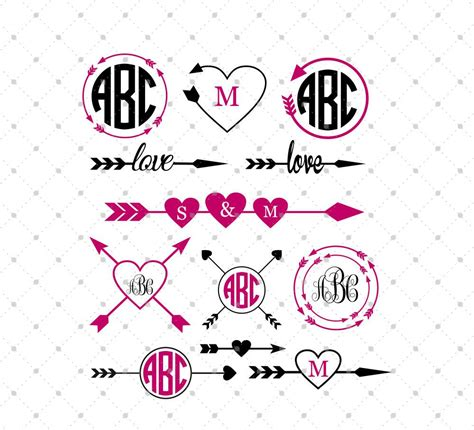 Raster graphics get blurry as zoom level increases or screen size changes. SVG Cut Files for Cricut and Silhouette - Arrow Monogram ...