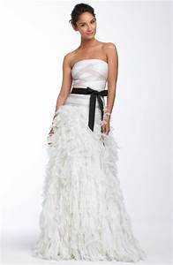 glam strapless a line tadashi shoji wedding dress with With tadashi wedding dresses