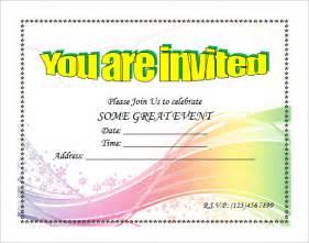 free wedding invitation sles 50th birthday invitations word templates free wedding