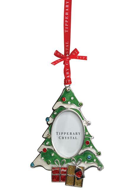 Tipperary Crystal  Sparkle Christmas Tree Frame Ornament