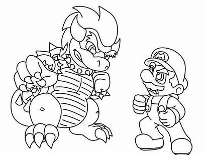 Mario Coloring Bowser Pages Super Printable Yoshi