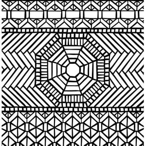 awesome geometric mosaic coloring page awesome geometric