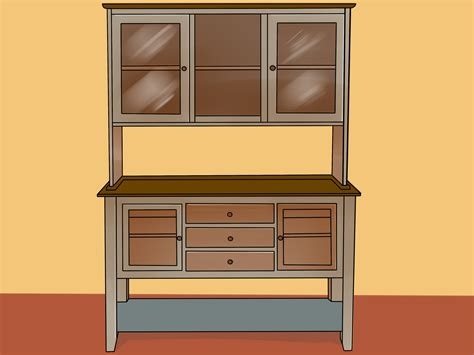 ways  decorate  dining room hutch wikihow