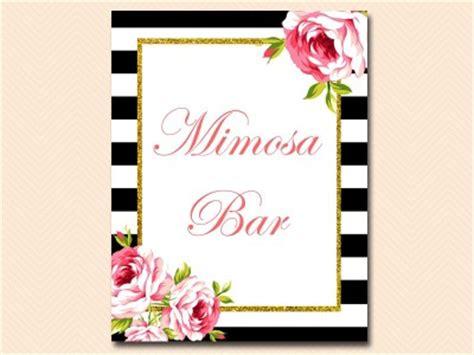 mimosa bar sign magical printable