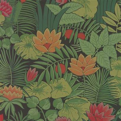 Jungle Reverie Floral Wallpapers Greene Bold Retro