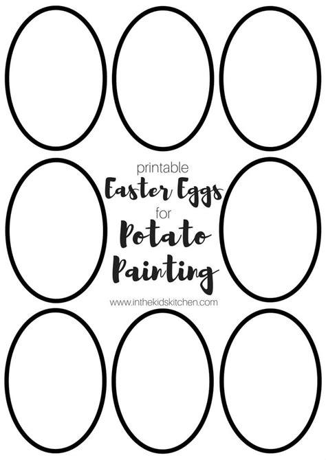 easter egg potato stamping  printable template