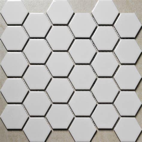 white mosaic tile white porcelain mosaic tile sheets large hexagon ceramic