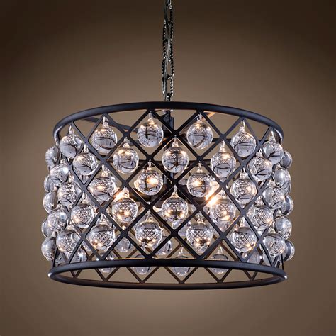 clear glass chandelier restoration revolution spencer 6 light 20 quot grey iron clear