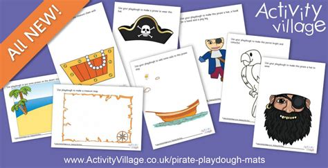 pirate playdough mats swashbuckling fun