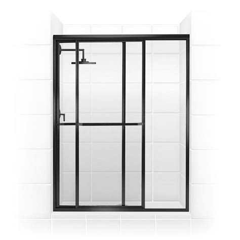 shower system rubbed bronze coastal shower doors paragon series 64 in x 66 in framed