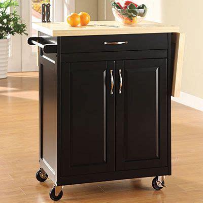 Black Finish Kitchen Cart With Drop Leaf $129.99 Fold up