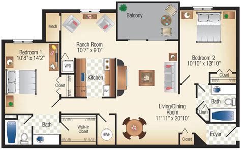 Dual Master Suite Ranch Home Plans