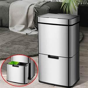 19, Gallon, Intelligent, Trash, Can, 3, Compartment, Smart, Automatic, Trash, Can, Kitchen