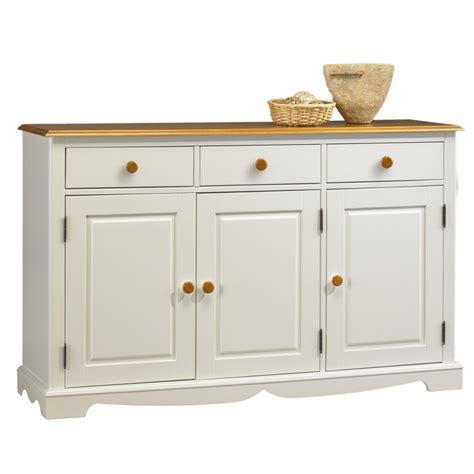 meuble cuisine 3 portes buffet blanc et miel 3 portes 3 tiroirs beaux meubles