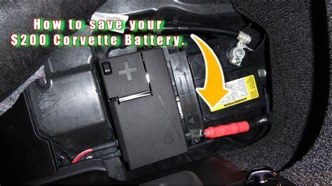 protect  battery   corvette youtube