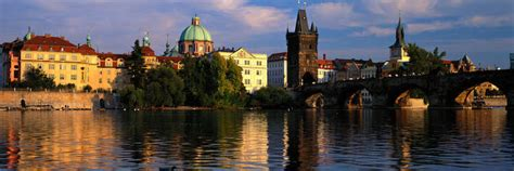 charles bridge vltava river prague czech republic art