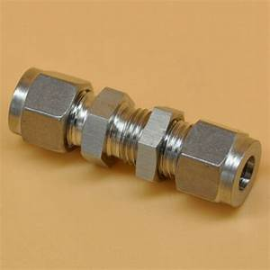 304 Stainless Steel Fit 4mm Od Tube Bulkhead Connector