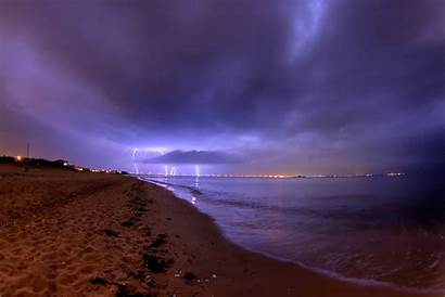 Lightning Storm Desktop Background Beach Lighting Wallpapers