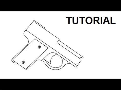 rubber band gun template tutorial ultra compact rubber band gun
