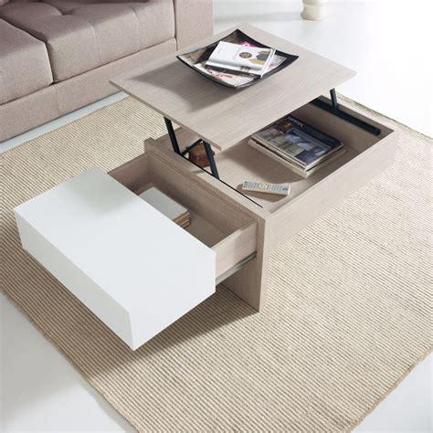 et cuisine avis table basse relevable blanc chêne clair ajar salon
