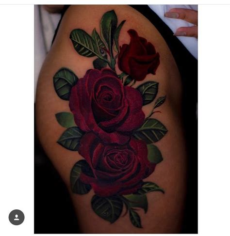 thigh rose tattoo  atcheeseburgerchampion tattoo ideas rose tattoos thigh tattoo quotes