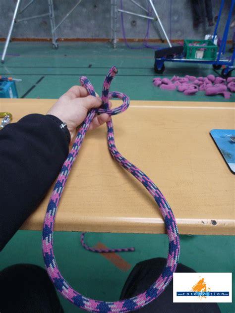 comment faire un noeud de chaise noeud de chaise simple en escalade