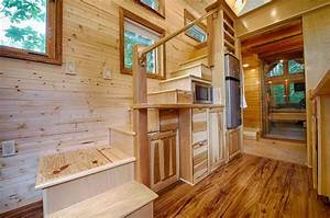 tiny house staircase integrated into the kitchen bathroom With tiny house on wheels interior