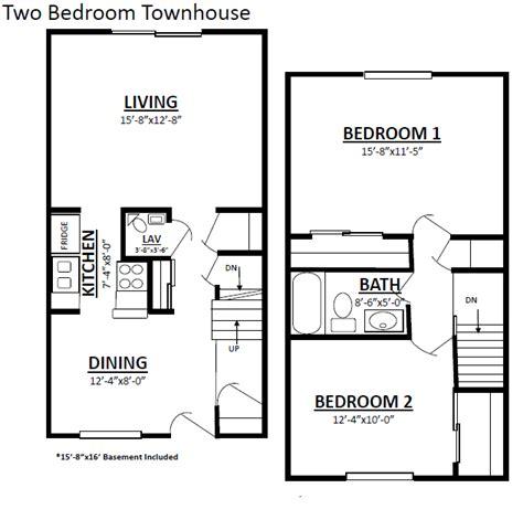 Bedroom Townhouse Plans  Home & Furniture Design