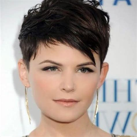 collection  super short hairstyles   faces
