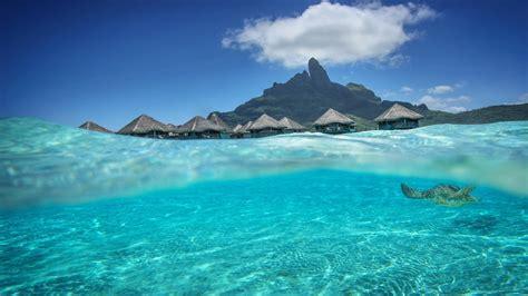Bora Bora Hd Wallpaper Beautiful Aqua Blue Lagoon Dream Isl Bora Bora Tahiti Desktop Background 595846 Wallpapers13 Com