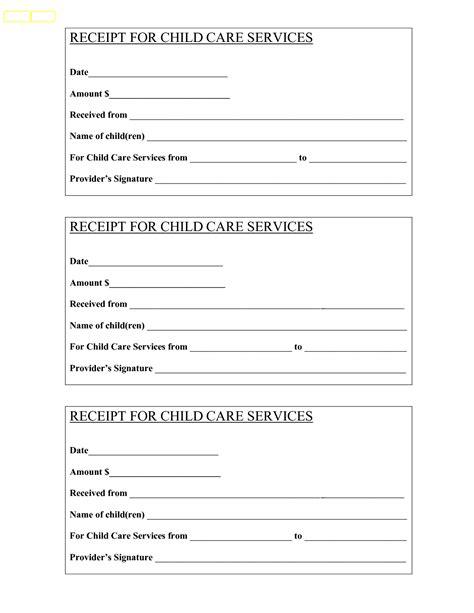 babysitting receipt bing images baby child care