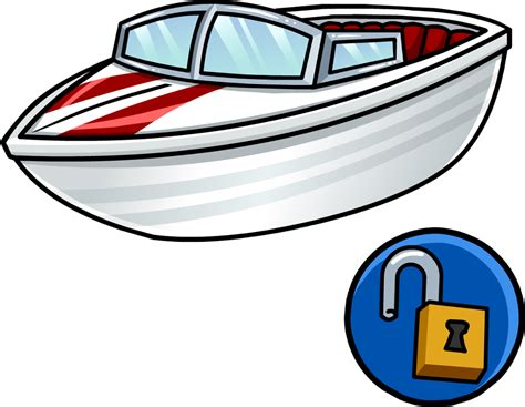 Boat Cartoon Transparent by Image Speed Boat Icon Png Club Penguin Wiki The Free