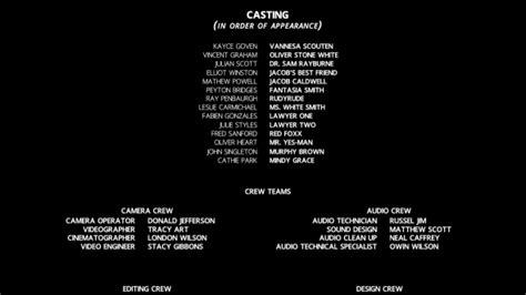 film credits credits by zerolink videohive