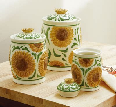 sunflower canisters for kitchen collections etc find unique gifts at