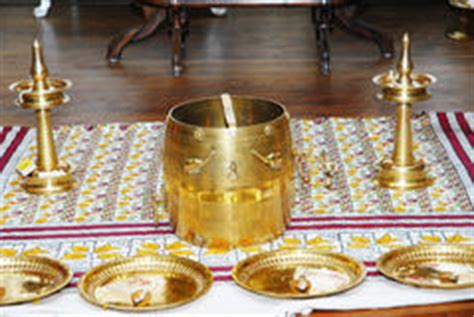 kerala hindu wedding function arrangement stock photography