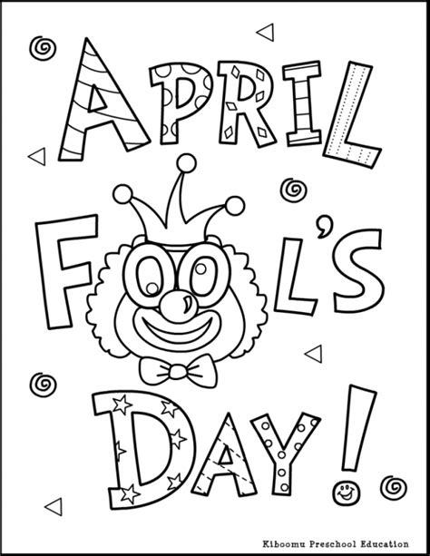 april coloring pages    print
