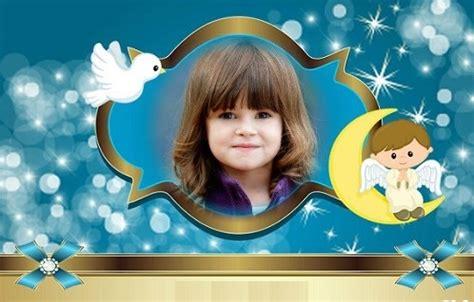 fotomontajes de bautismo y comuni 243 n fotomontajes infantiles