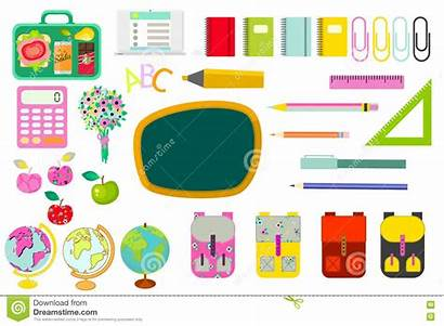 Stationery Clip Vector Supplies Objects Board Cartoon