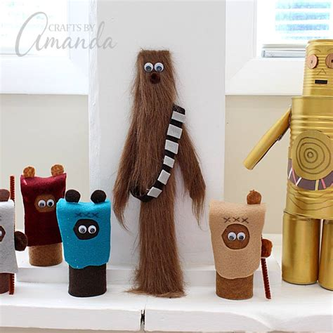 star wars craft paint stick chewbacca  red ted arts blog