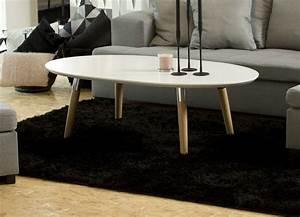 Table Basse Blanc Laqué Et Bois : table basse style nordique en bois ronde v n setti ~ Teatrodelosmanantiales.com Idées de Décoration