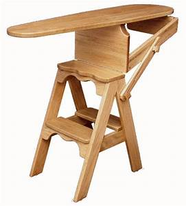 Bachelor, Jefferson, Folding, Ironing Board, Step Stool, Chair